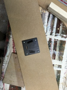 Monitor panel with mount